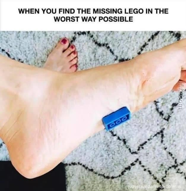 Skin - WHEN YOU FIND THE MISSING LEGO IN THE WORST WAY POSSIBLE 200 @ayerageparentproblems
