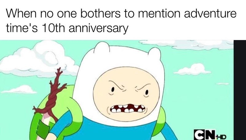 Cartoon - When no one bothers to mention adventure time's 10th anniversary HD
