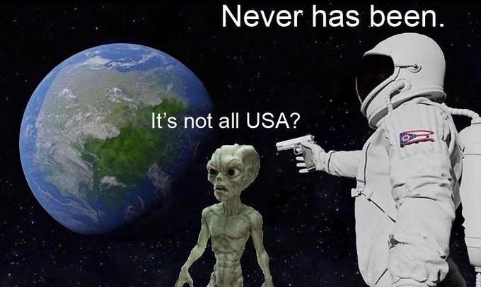Astronomical object - Never has been. It's not all USA?