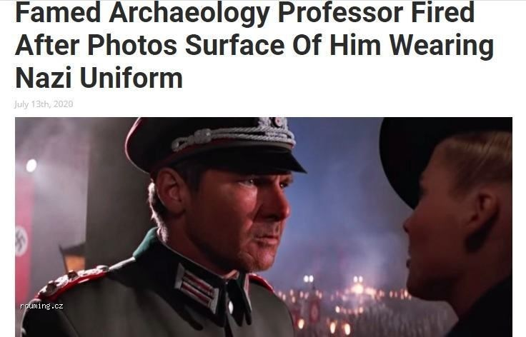 Photo caption - Famed Archaeology Professor Fired After Photos Surface Of Him Wearing Nazi Uniform July 13th, 2020 rouming.cz