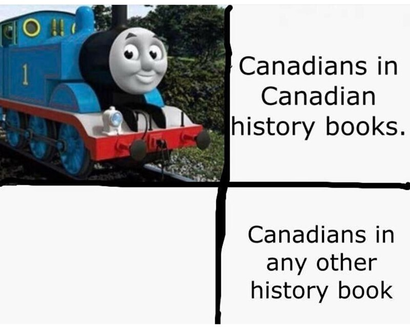 Land vehicle - Canadians in Canadian history books. Canadians in any other history book 1
