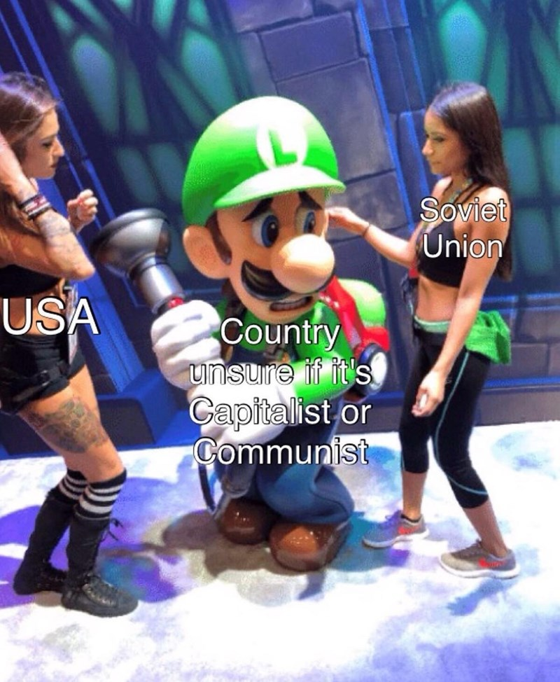 Action figure - Soviet Union USA Country unsure if it's Gapitalist or Communist