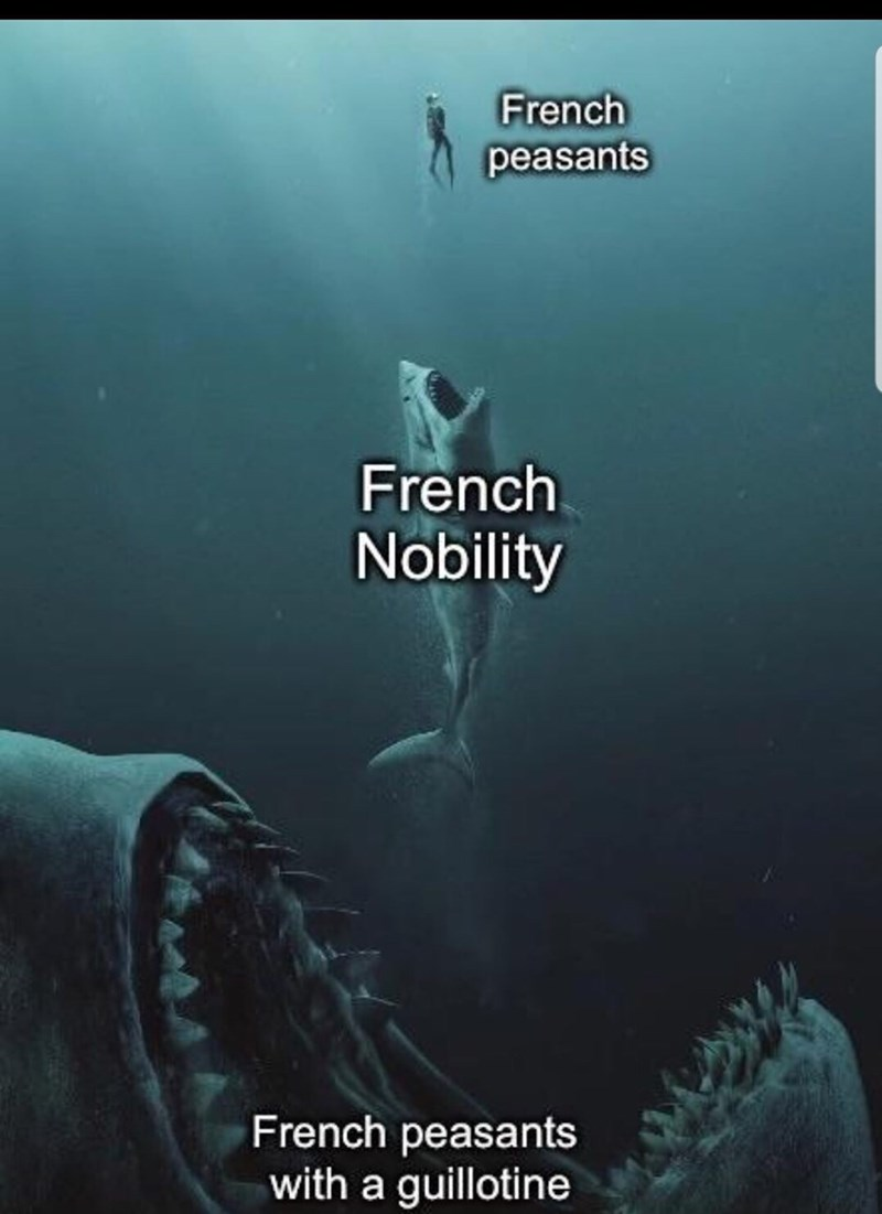 Organism - French peasants French Nobility French peasants with a guillotine