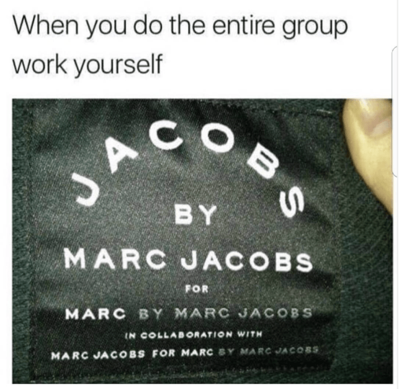 Text - When you do the entire group work yourself COBS JA BY MARC JACOBS FOR MARC BY MARC JACOBS IN COLLABORATION WITH MARC JA COBS FOR MARC BY MARC JACO8S