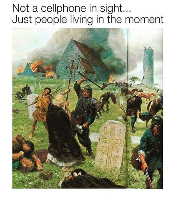 Adaptation - Not a cellphone in sight... Just people living in the moment
