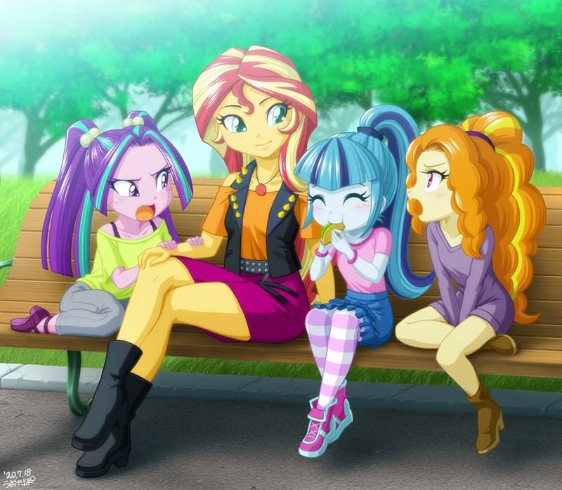 equestria girls uotapo sonata dusk sunset shimmer aria blaze adagio dazzle - 9520665600