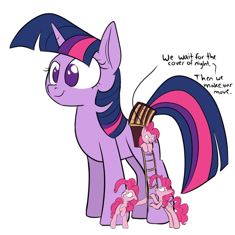 twilight sparkle pinkie pie trojan horse rocket-lawnchair - 9521293824
