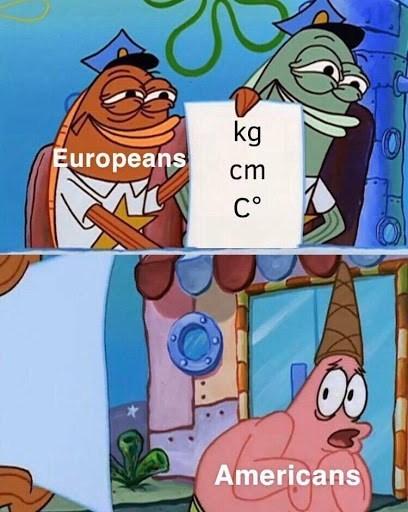 Cartoon - Cartoon - kg Europeans cm C° Americans