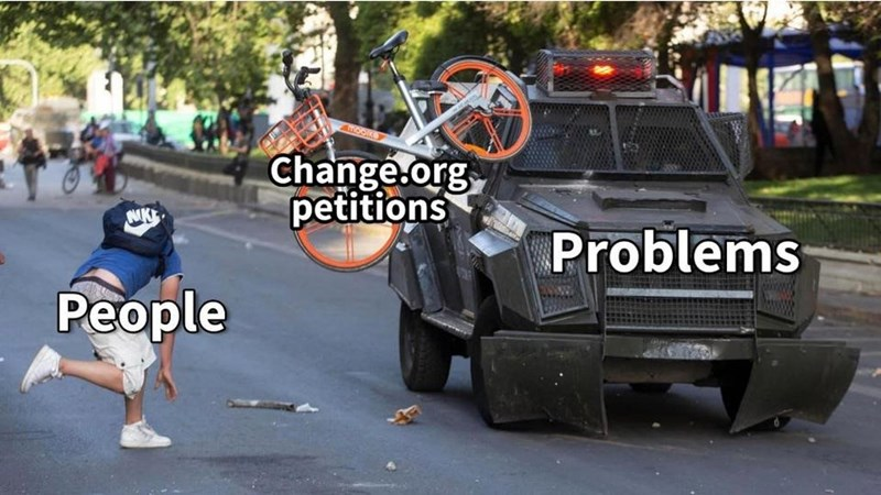 Vehicle - Change.org petitions NK Problems People