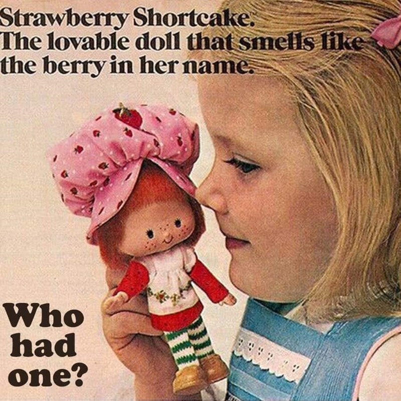 Child - Strawberry Shortcake. The lovable doll that smells like the berry in her name. Who had one?