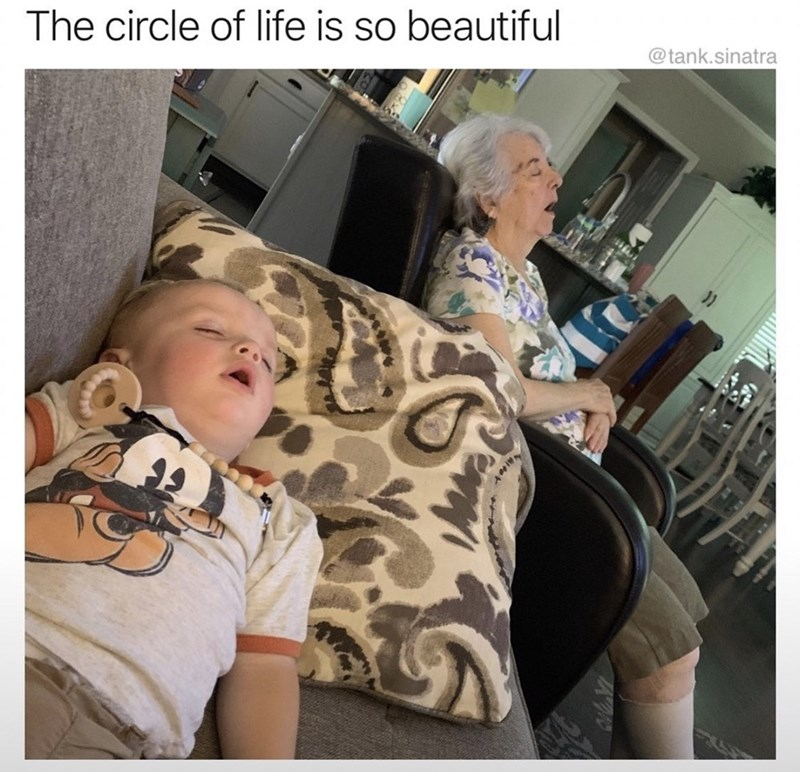 Child - The circle of life is so beautiful @tank.sinatra