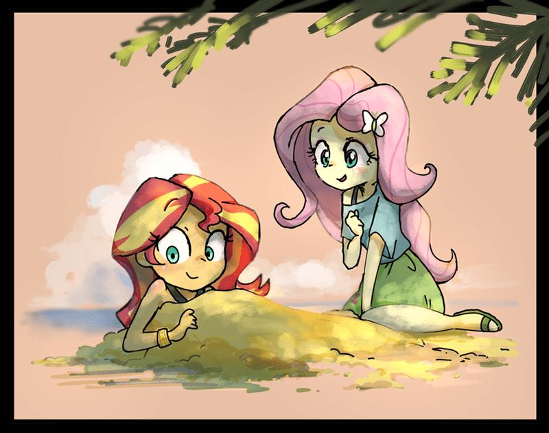 equestria girls nendo sunset shimmer fluttershy - 9524167168
