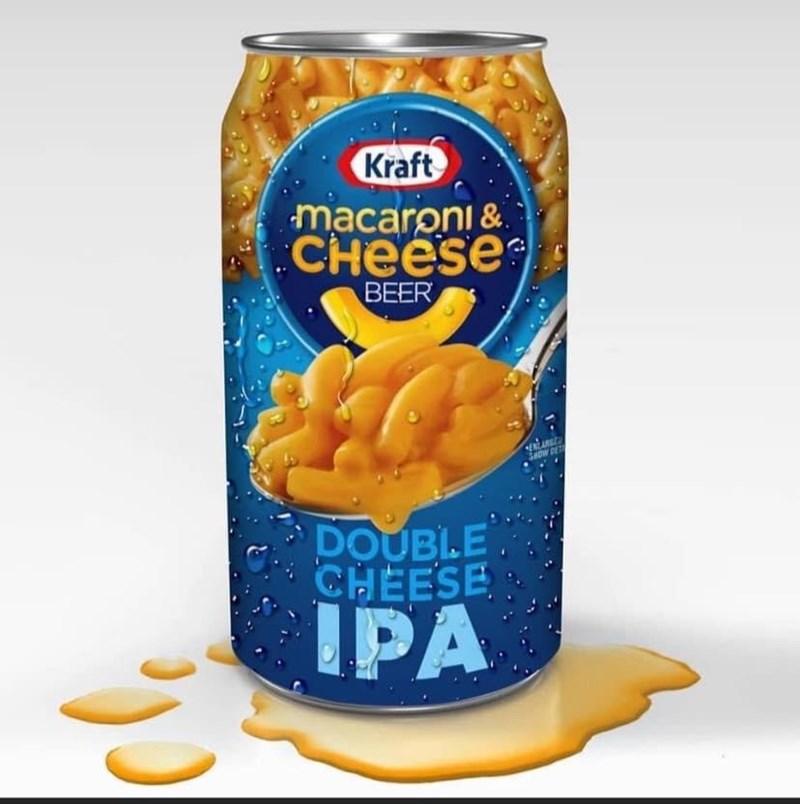 Junk food - Kraft macaroni & CHeese BEER SHOW DET DOUBLE CHEESE IPA