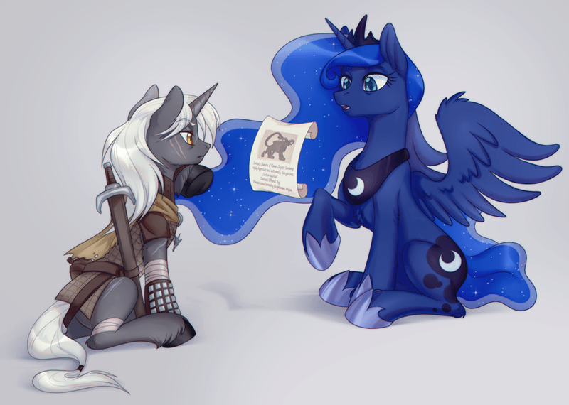 lightning stars the witcher princess luna ponify chimera - 9524412928