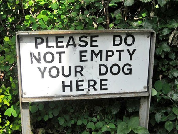 Text - PLEASE DO NOT EMPTY YOUR DOG HERE