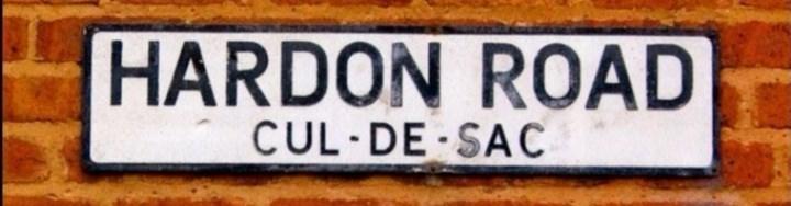 Vehicle registration plate - HARDON ROAD CUL·DE SAC