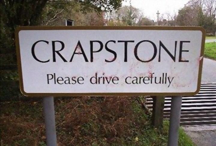 Nature reserve - CRAPSTONE Please drive carefully
