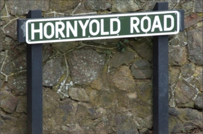 Street sign - HORNYOLD ROAD