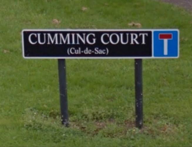 Sign - CUMMING COURT T. (Cul-de-Sac)