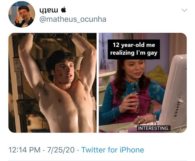 Human - math @matheus_ocunha 12 year-old me realizing l'm gay INTERESTING. 12:14 PM · 7/25/20 · Twitter for iPhone >