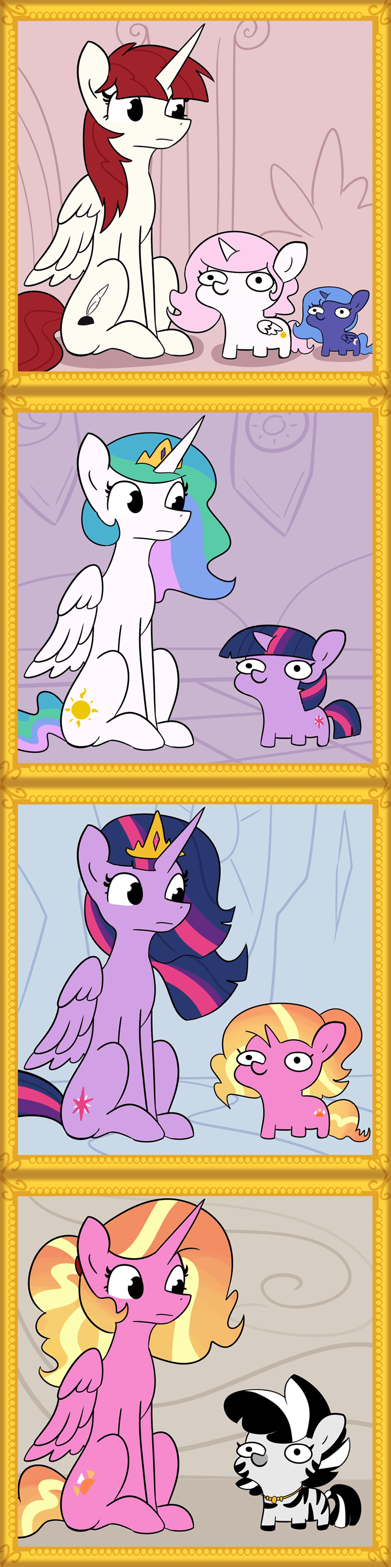 zebra OC tj pones twilight sparkle luster dawn fausticorn princess luna princess celestia - 9525788928