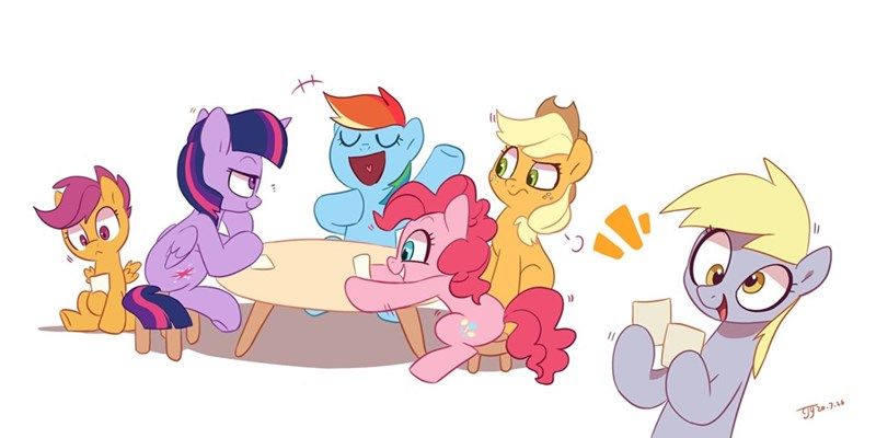 applejack derpy hooves twilight sparkle pinkie pie Scootaloo rainbow dash drtuo4 - 9525789440