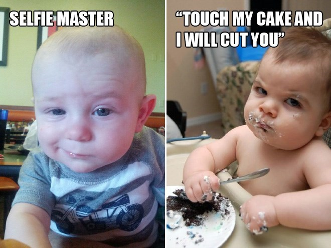 """Child - SELFIE MASTER """"TOUCH MY CAKE AND I WILL CUT YOU"""