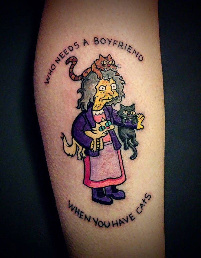 Tattoo - BOYFRIEND HO NEEDSA WHEN YOUVAVE CATS