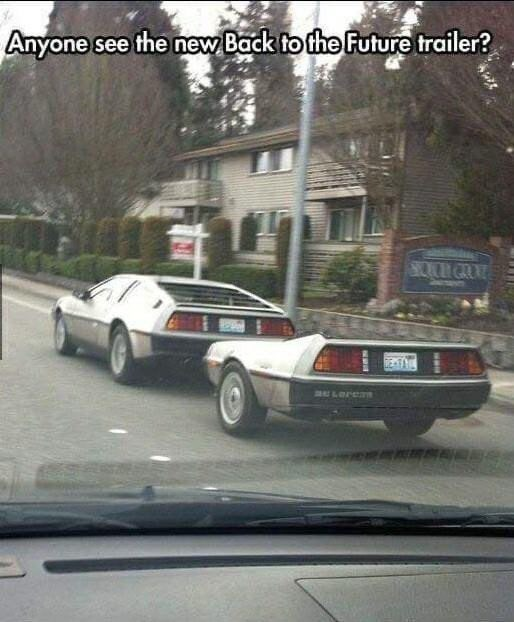 Land vehicle - Anyone see the new Back to the Future trailer? BOUH GLOLD