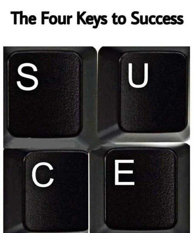 Computer keyboard - The Four Keys to Success S U CE