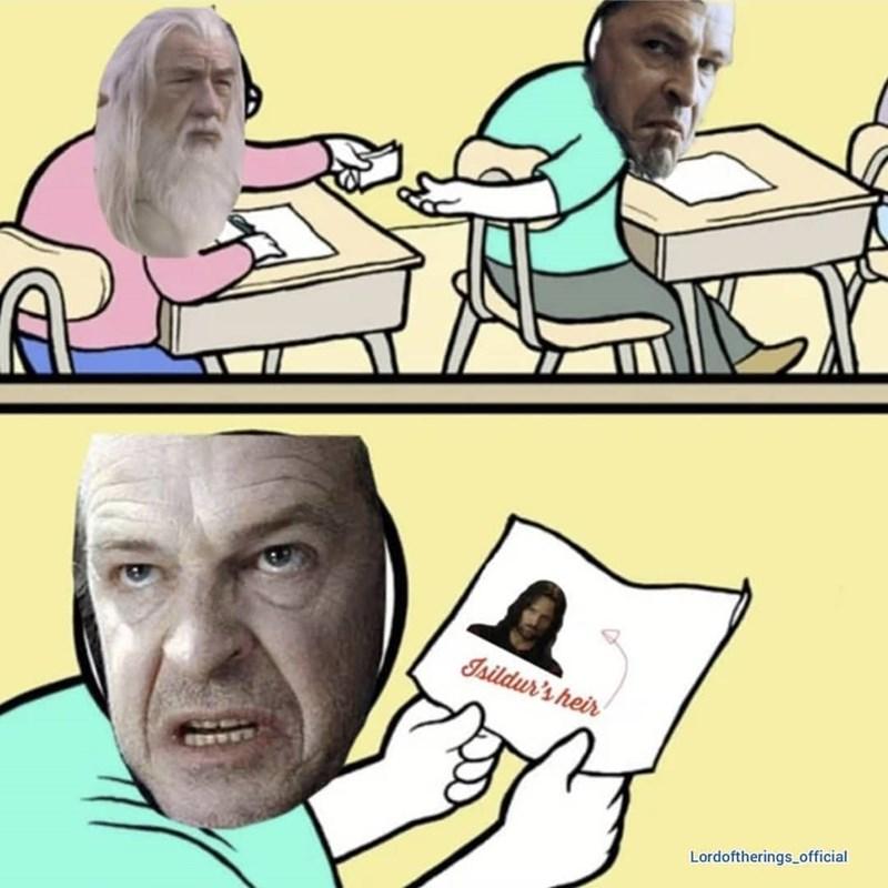Cartoon - Isildur's heir Lordoftherings official