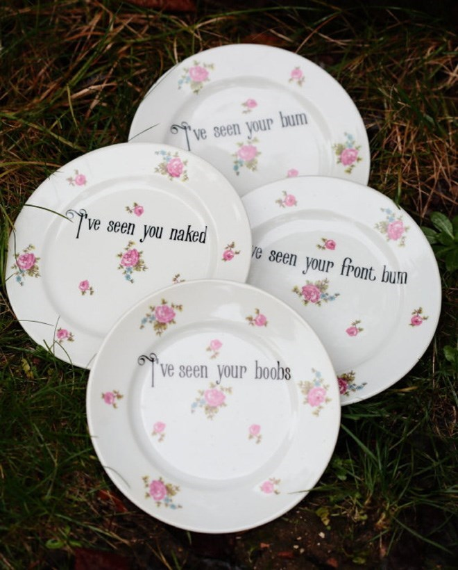 Dishware - ve seen your bum ve seen you naked ve seen your front bum ve seen your boobs