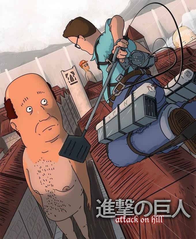 Cartoon - 進撃の巨人 attack on hill