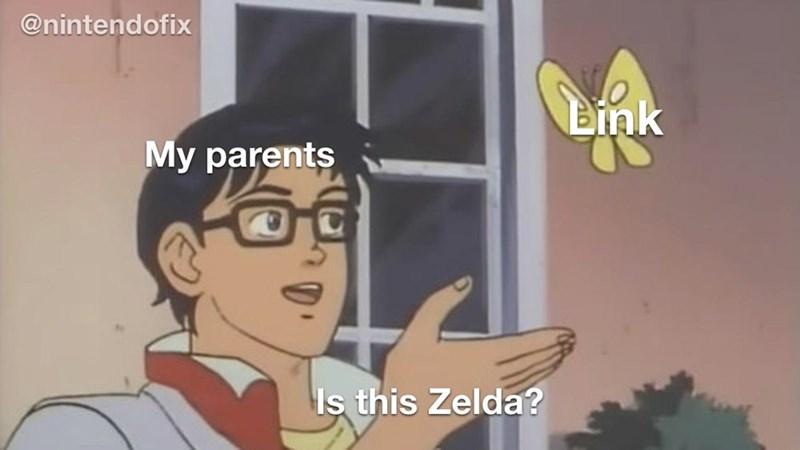 Cartoon - @nintendofix Link My parents Is this Zelda?