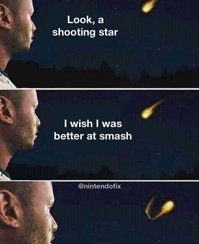 Sky - Look, a shooting star I wish I was better at smash @nintendofix