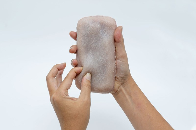 scientists create terrifying fake skin phone case