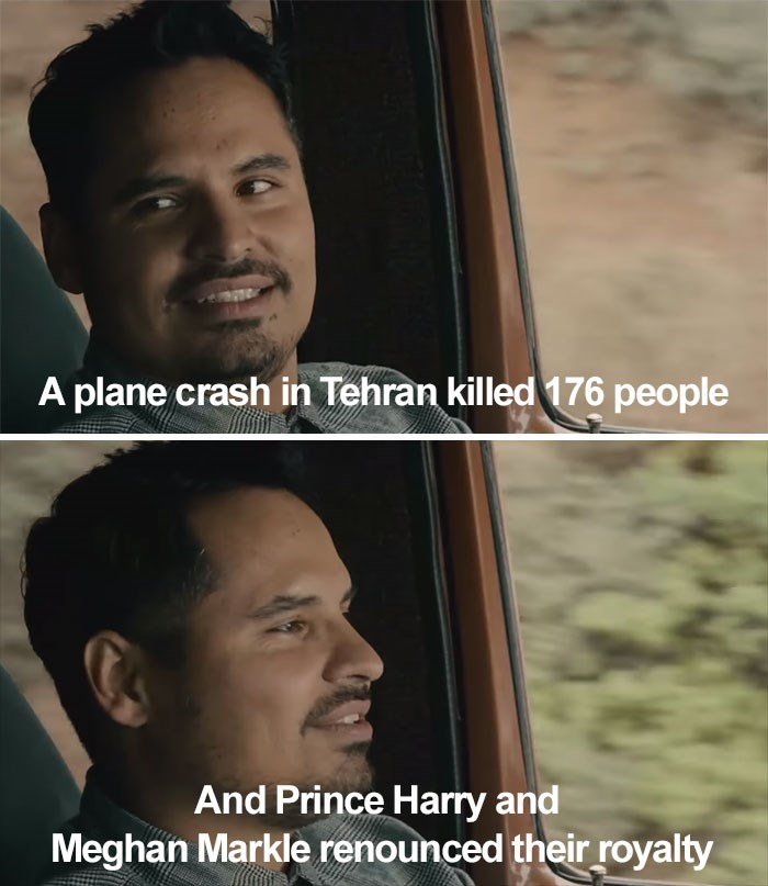 Forehead - A plane crash in Tehran killed 176 people And Prince Harry and Meghan Markle renounced their royalty
