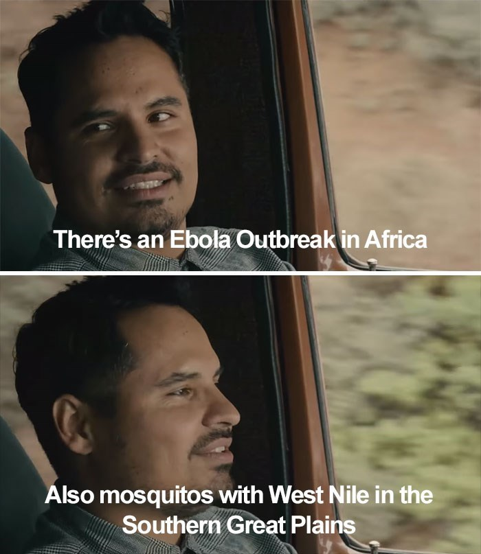 Face - There's an Ebola Outbreak in Africa Álso mosquitos with West Nile in the Southern Great Plains