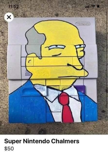 Street art - 11:52 (Nintendo Super Nintendo Chalmers $50