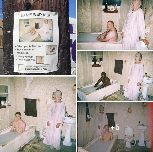 Photograph - BATHE IN MY MILK • Offer open to Men only • Soy, almond, or traditional -Use my sponge .I will watch you Schedule an appointment at BATHEINMYMILK.COM +5