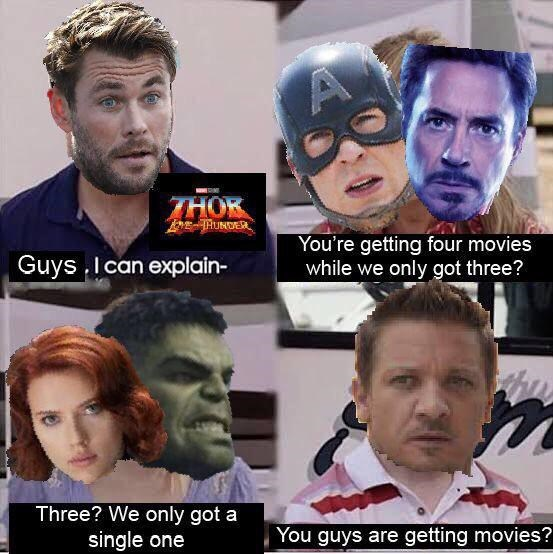 Forehead - THOK Guys . I can explain- You're getting four movies while we only got three? Three? We only got a single one You guys are getting movies?