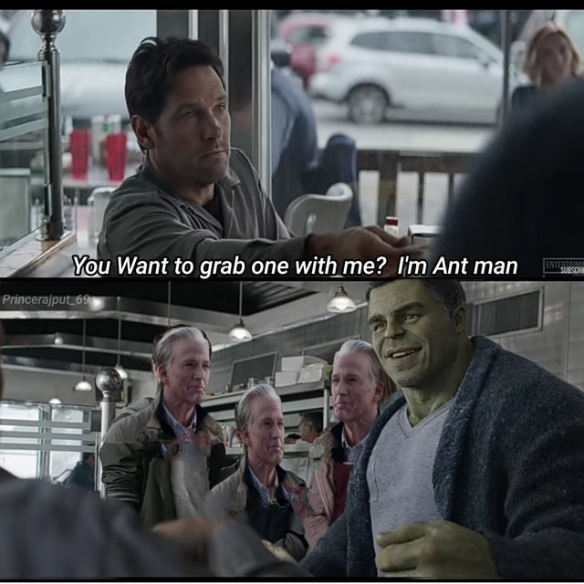 Human - You Want to grab one with me? I'm Ant man ENTERTAINM SUBSCR Princerajput 69