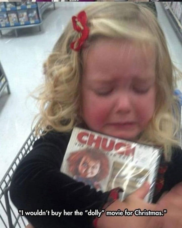 """Hair - CHUCK """"I wouldn't buy her the """"dolly"""" moviefor Christmas."""""""