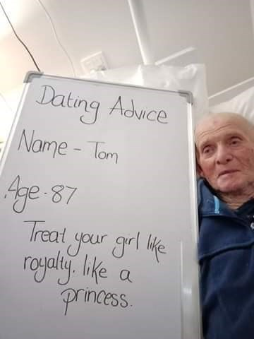 Text - Dating Aduce Nome- Tom Age-87 Treat your grl life royaliy like princess. a