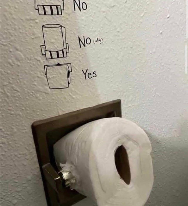 Toilet paper - No No Yes
