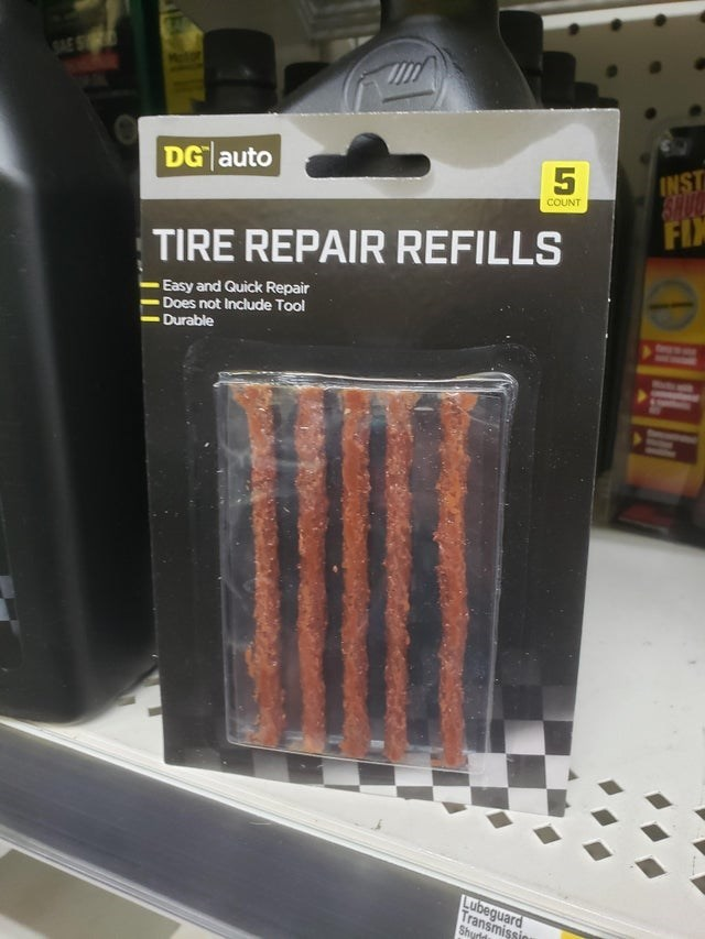 Brick - SAE S INST SRUC FIX DG auto COUNT TIRE REPAIR REFILLS Easy and Quick Repair Does not Include Tool Durable Lubeguard Transmissio Shurld