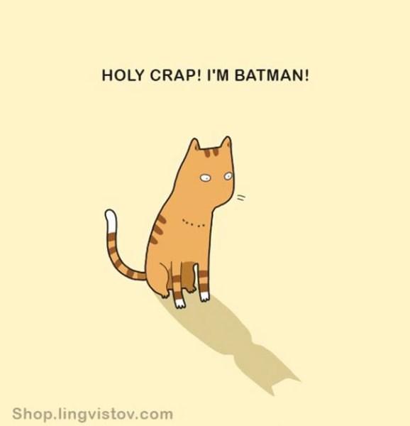 Cartoon - HOLY CRAP! I'M BATMAN! Shop.lingvistov.com