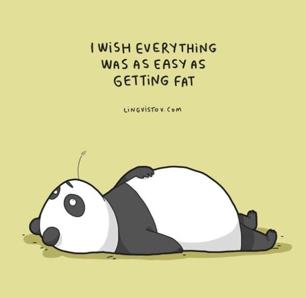 Cartoon - I WISH EVERYTHING WAS AS EASY AS GETTING FAT LINGVISTO v. Com