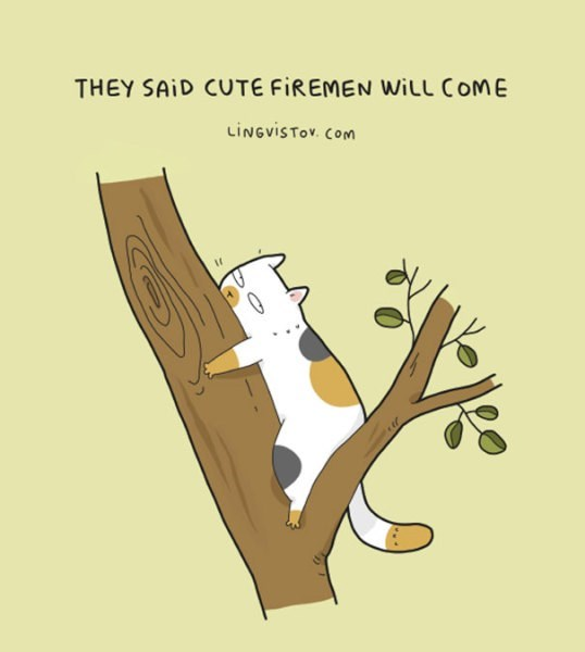 Cartoon - THEY SAID CUTE FIREMEN WILL COME LiNGviSTov. Com