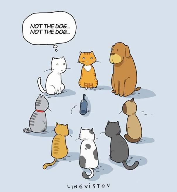 Cartoon - NOT THE DOG. NOT THE DOG. LING vi STO v